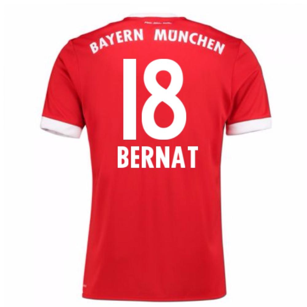 2017-18 Bayern Munich Home Short Sleeve Shirt (Bernat 18)
