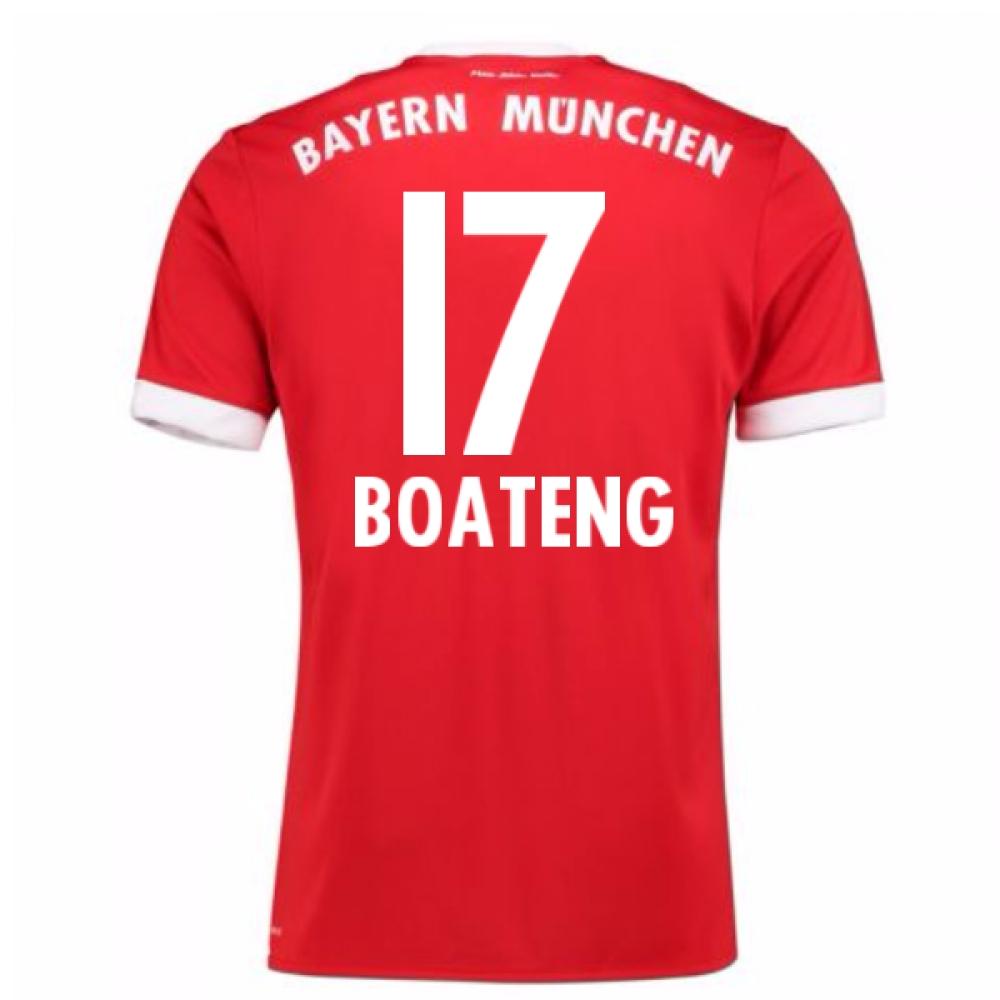 2017-18 Bayern Munich Home Short Sleeve Shirt (Boateng 17)
