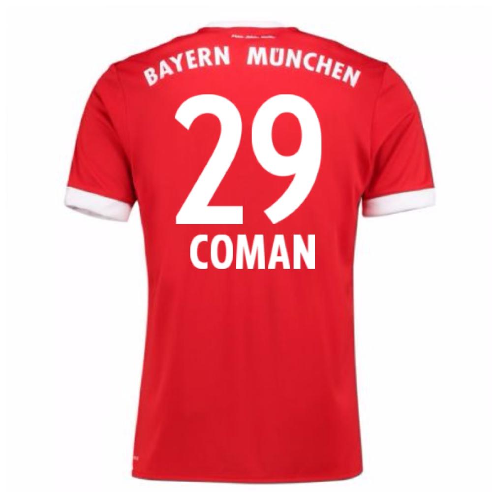 2017-18 Bayern Munich Home Short Sleeve Shirt (Coman 29)