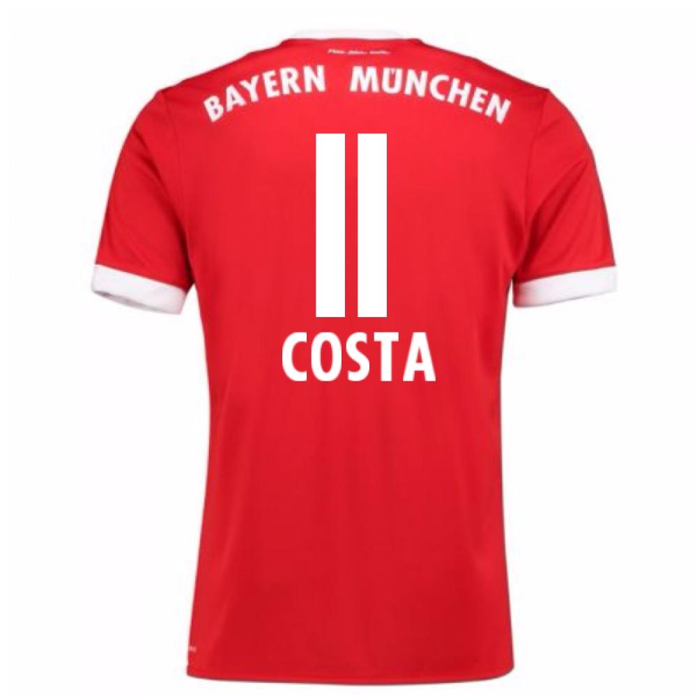 2017-18 Bayern Munich Home Short Sleeve Shirt (Costa 11)