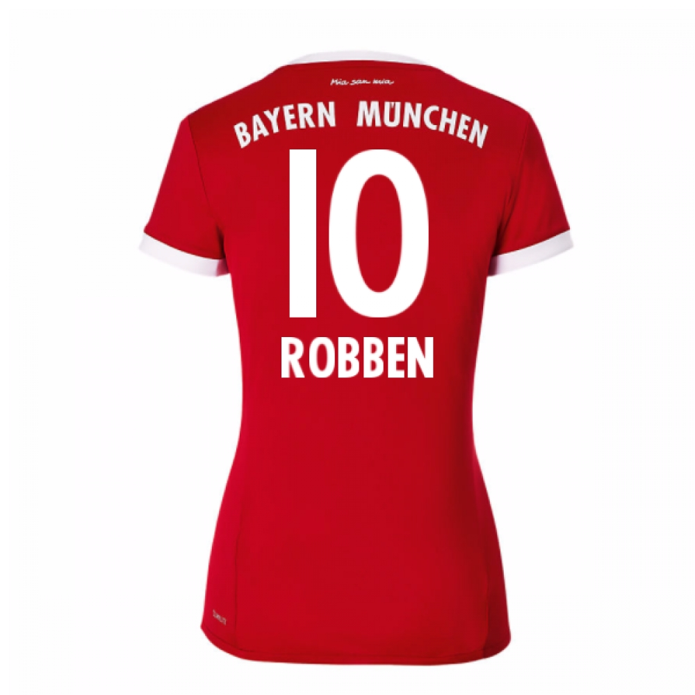 2017-18 Bayern Munich Home Womens Shirt (Robben 10)