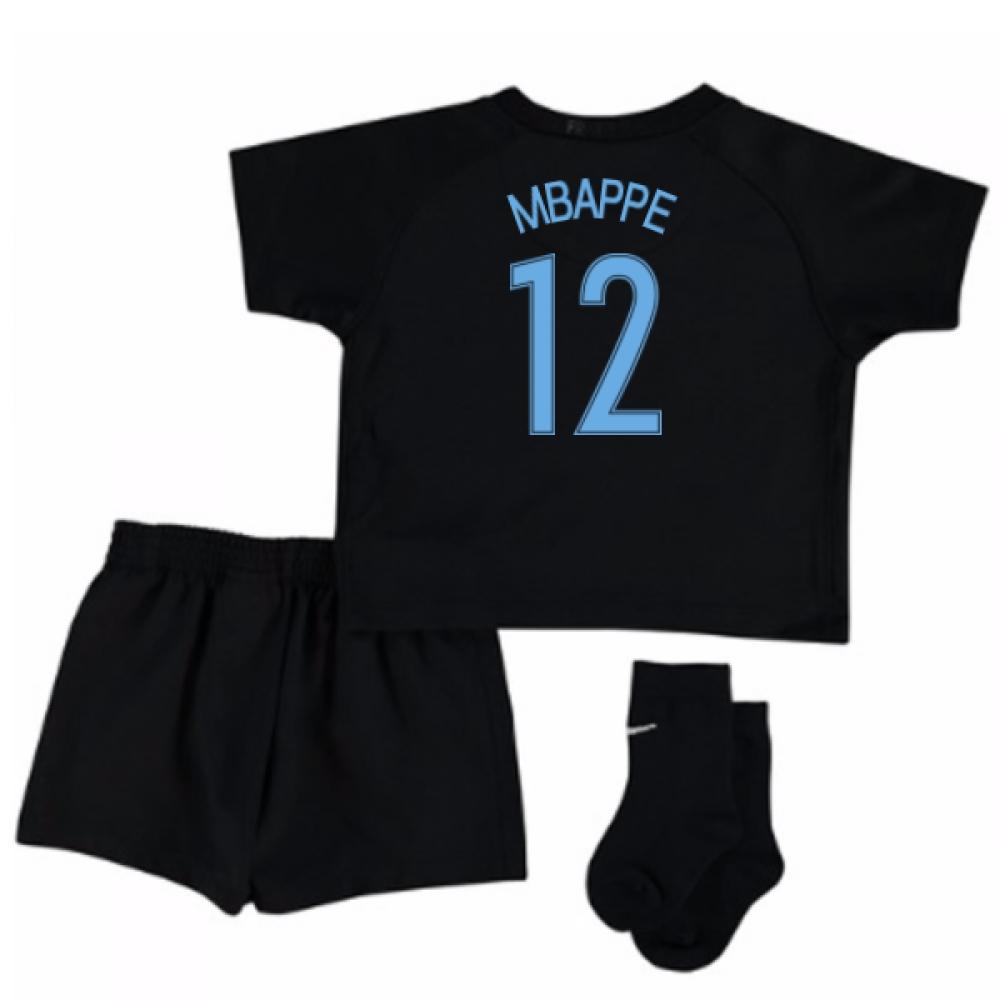 2017-18 France Away Nike Mini Kit (Black) (Mbappe 12)