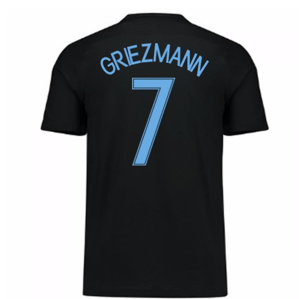 2017-18 France Away Nike Shirt (Black) (Griezmann 7)