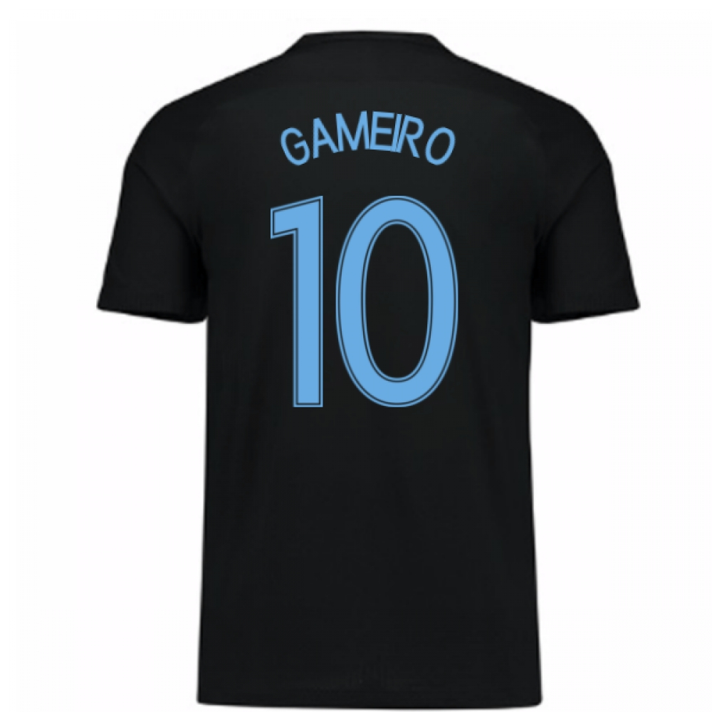 2017-18 France Away Nike Shirt (Black) - Kids (Gameiro 10)