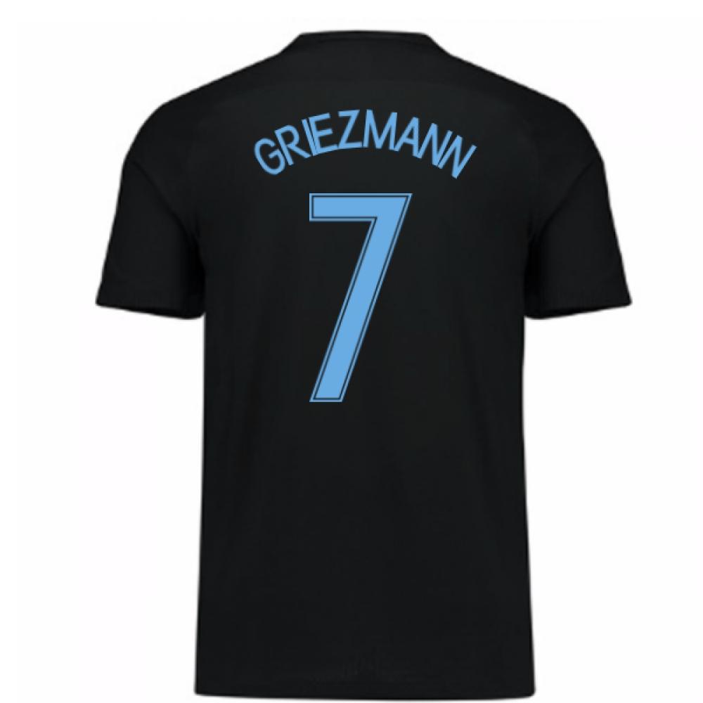 2017-18 France Away Nike Shirt (Black) - Kids (Griezmann 7)