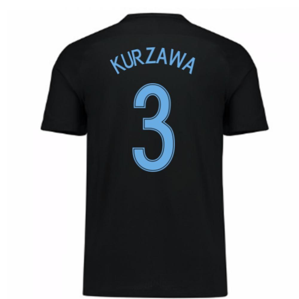 2017-18 France Away Nike Shirt (Black) - Kids (Kurzawa 3)