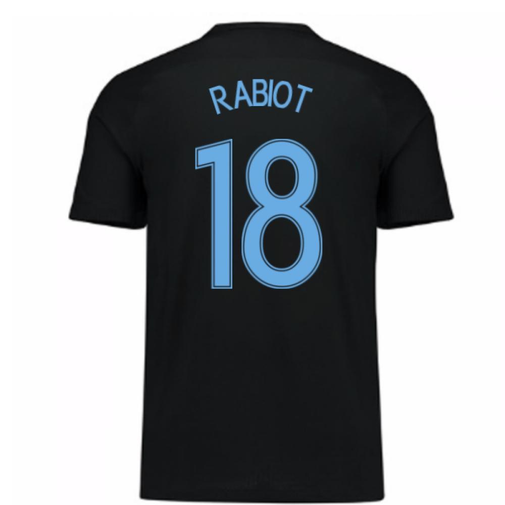 2017-18 France Away Nike Shirt (Black) - Kids (Rabiot 18)
