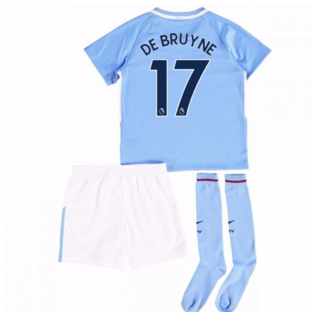 2017-18 Man City Mini Kit (De Bruyne 17)