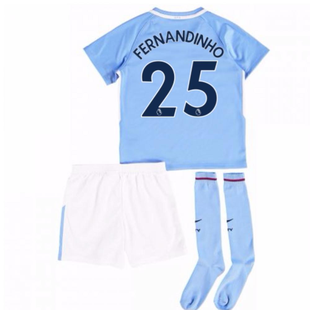 2017-18 Man City Mini Kit (Fernandinho 25)