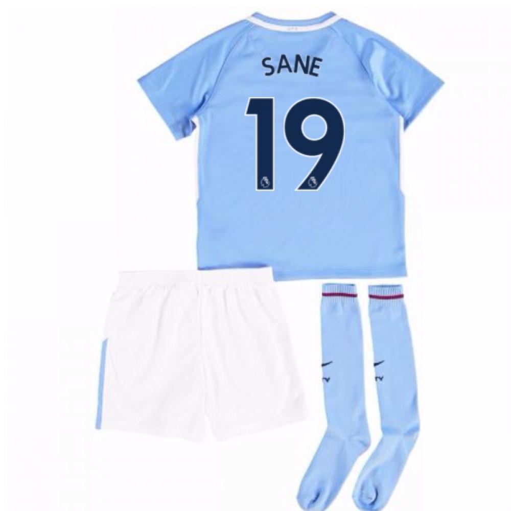 2017-18 Man City Mini Kit (Sane 19)