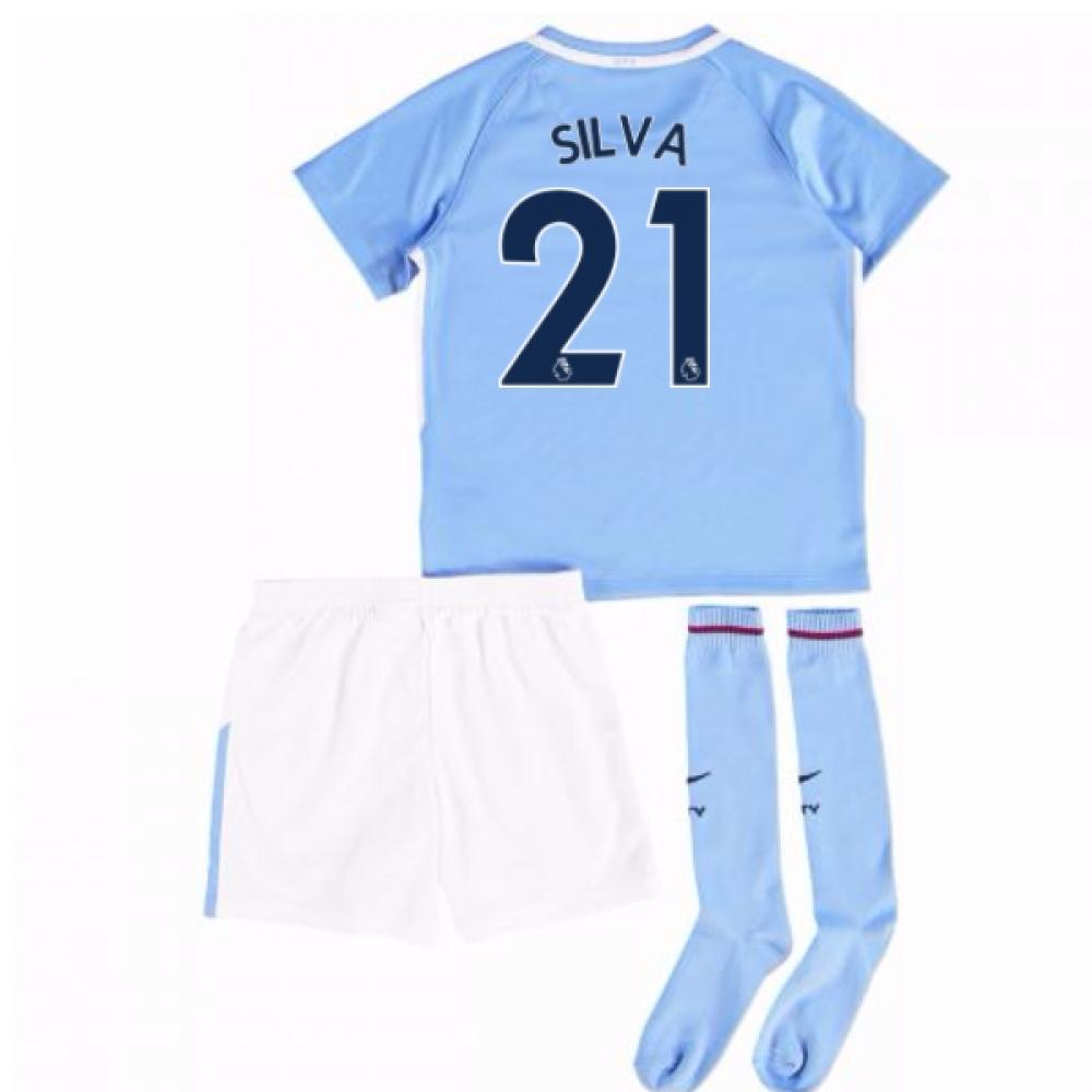 2017-18 Man City Mini Kit (Silva 21)