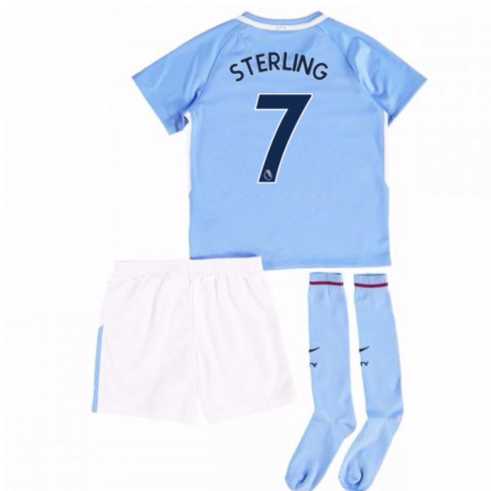 2017-18 Man City Mini Kit (Sterling 7)