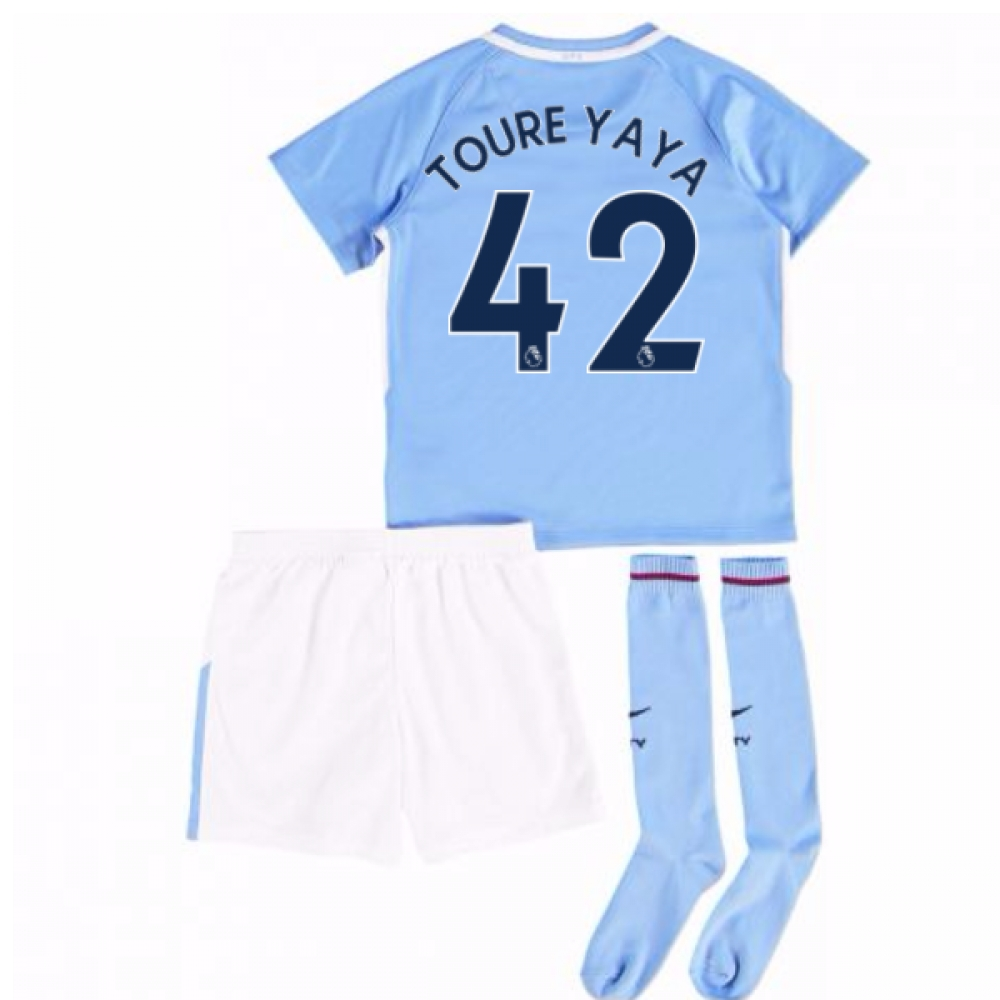 2017-18 Man City Mini Kit (Toure Yaya 42)