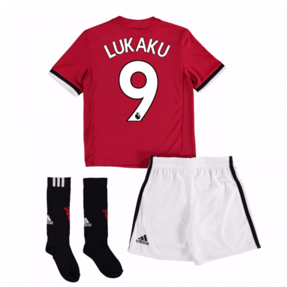 2017-18 Man United Home Mini Kit (Lukaku 9)