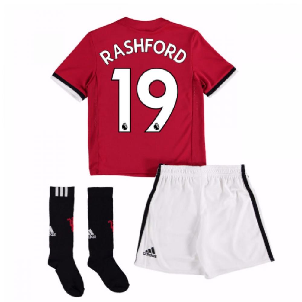 2017-18 Man United Home Mini Kit (Rashford 19)