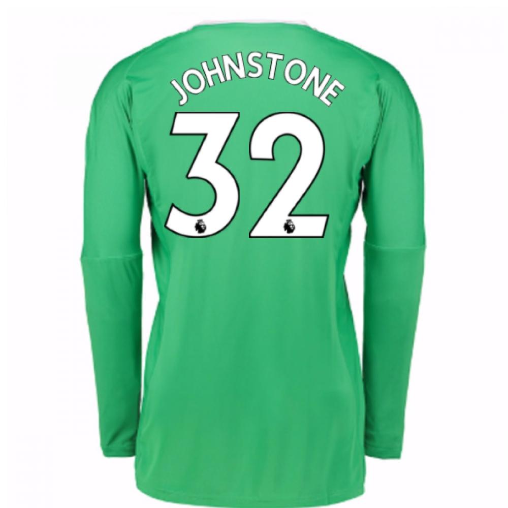 74dcd6abf 2017-18 Man Utd Away Goalkeeper Shirt (Johnstone 32) AZ7589 2017-18 Long Sleeve  1 De Gea Goalkeeper Jersey Black UniTed GK Soccer Jerseys David ...