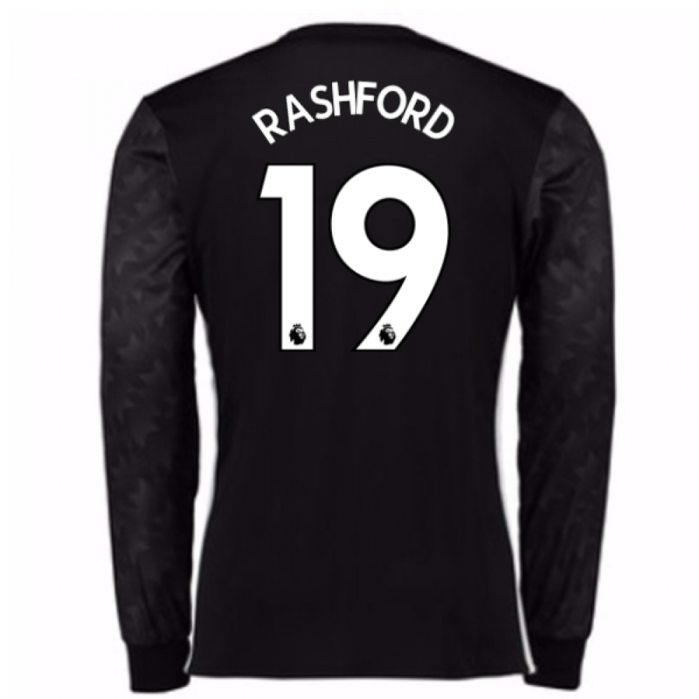 2017-18 Man Utd Away Long Sleeve Shirt (Kids) (Rashford 19)