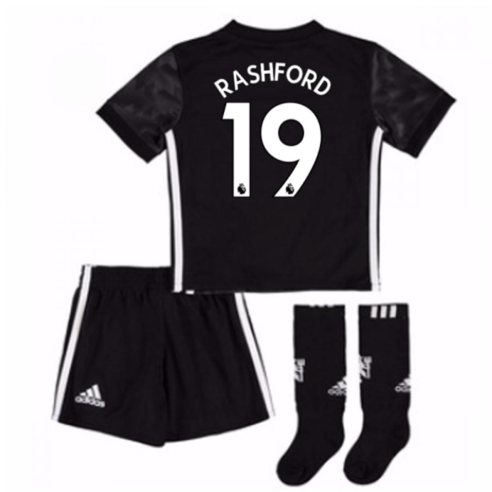 2017-18 Man Utd Away Mini Kit (Rashford 19)