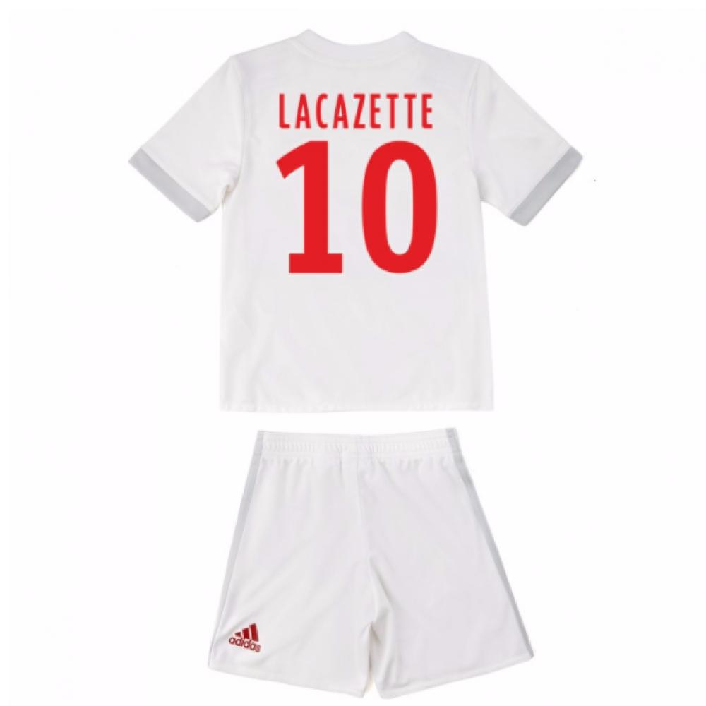 2017-18 Olympique Lyon Adidas Home Mini Kit (Lacazette 10)
