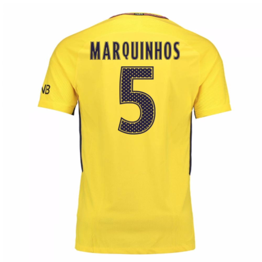 2017-18 PSG Away Shirt (Marquinhos 5)