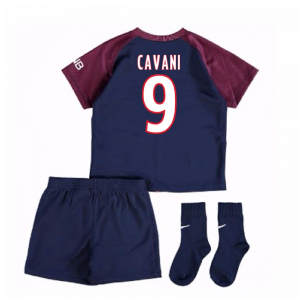 2017-18 Psg Home Baby Kit (Cavani 9)
