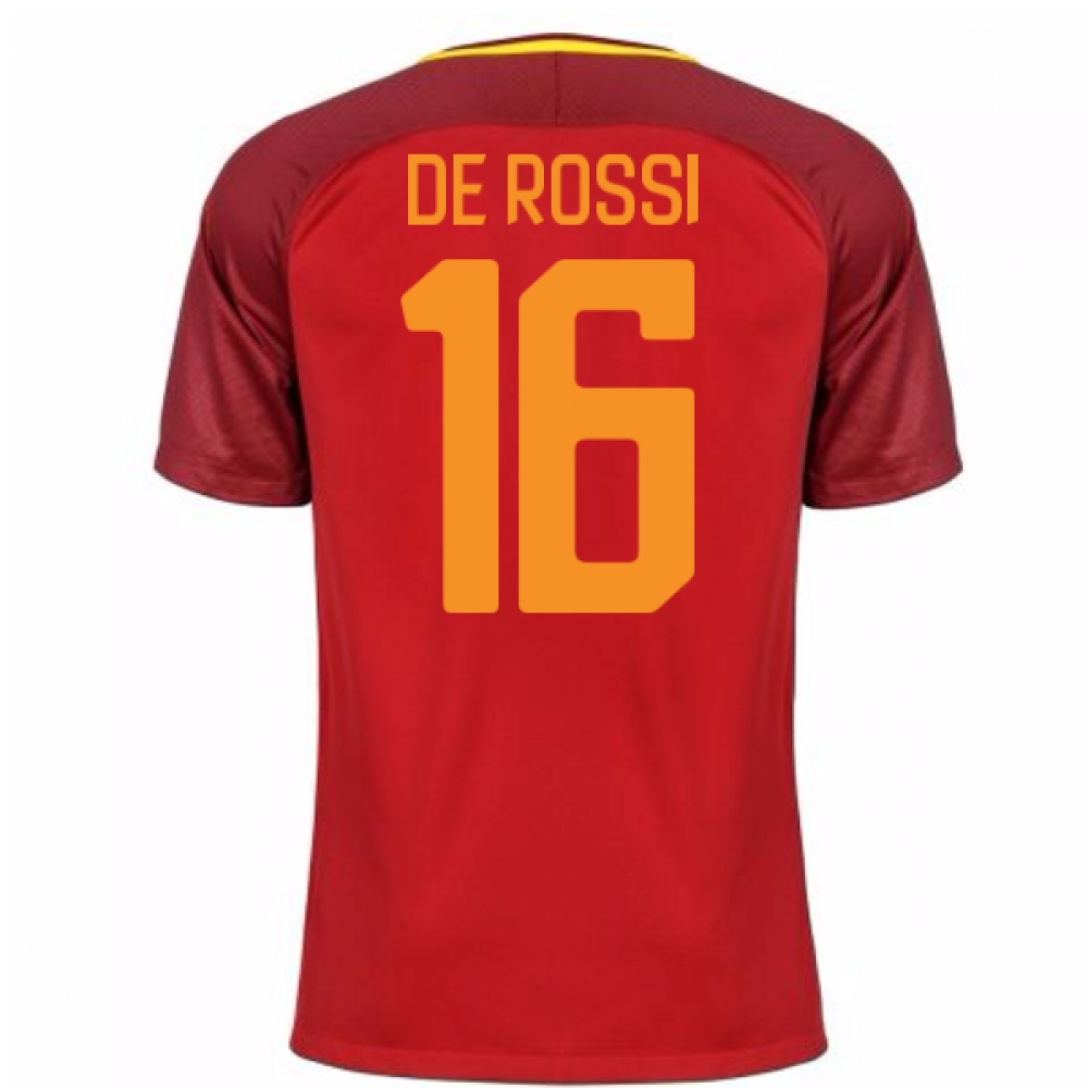2017-18 Roma Home Shirt (De Rossi 16)