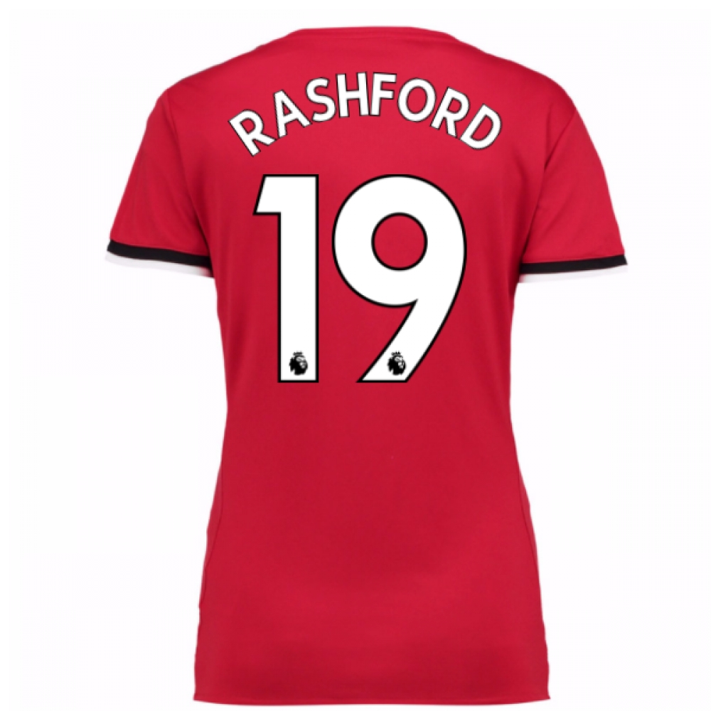 2017-2017 Man United Womens Home Shirt (Rashford 19)