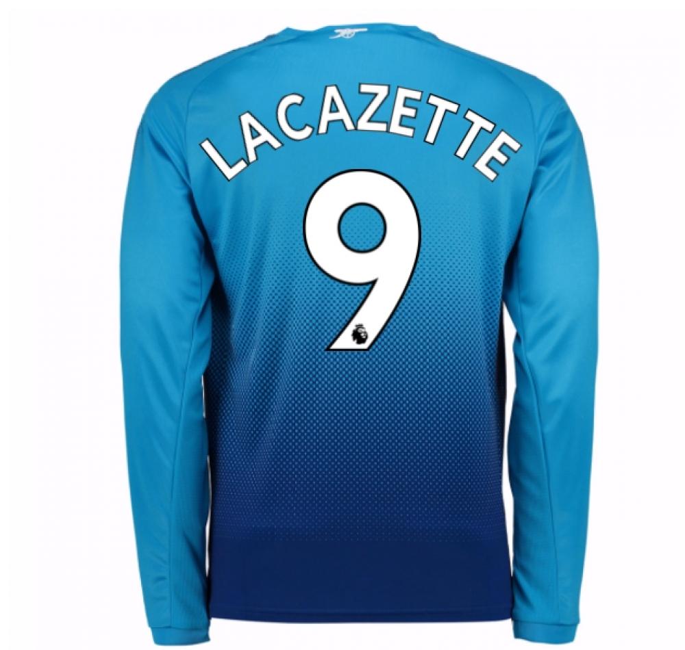 2017-2018 Arsenal Away Long Sleeve Shirt (Lacazette 9)