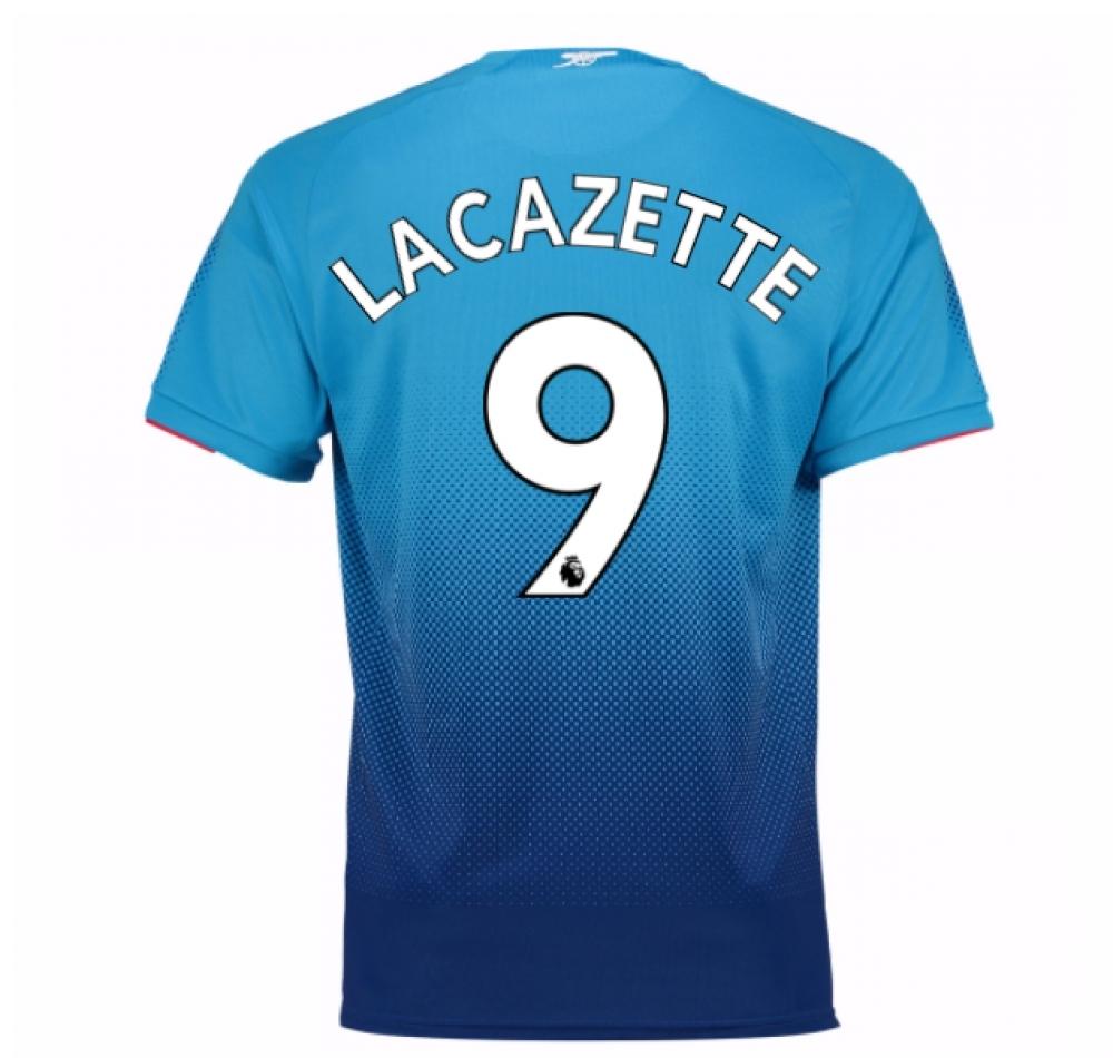 2017-2018 Arsenal Away Shirt (Lacazette 9) - Kids