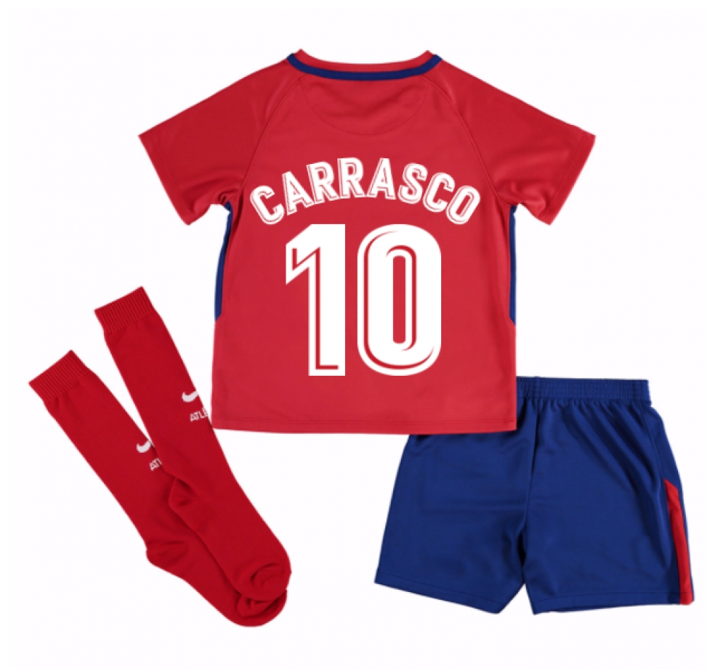 2017-2018 Atletico Madrid Home Mini Kit (Carrasco 10)