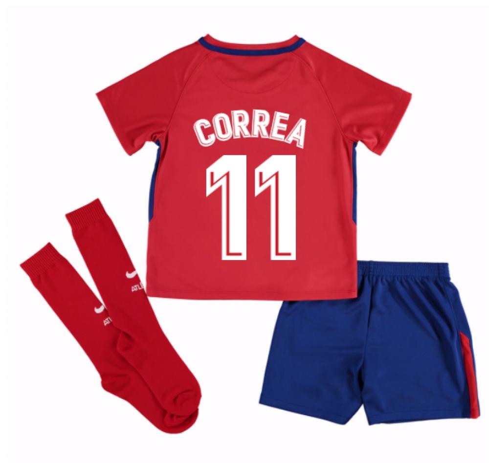 2017-2018 Atletico Madrid Home Mini Kit (Correa 11)