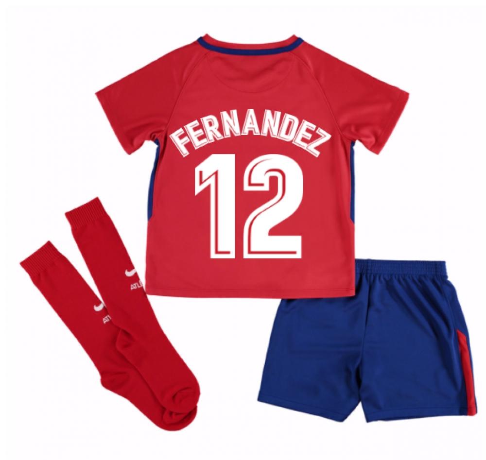 2017-2018 Atletico Madrid Home Mini Kit (Fernandez 12)