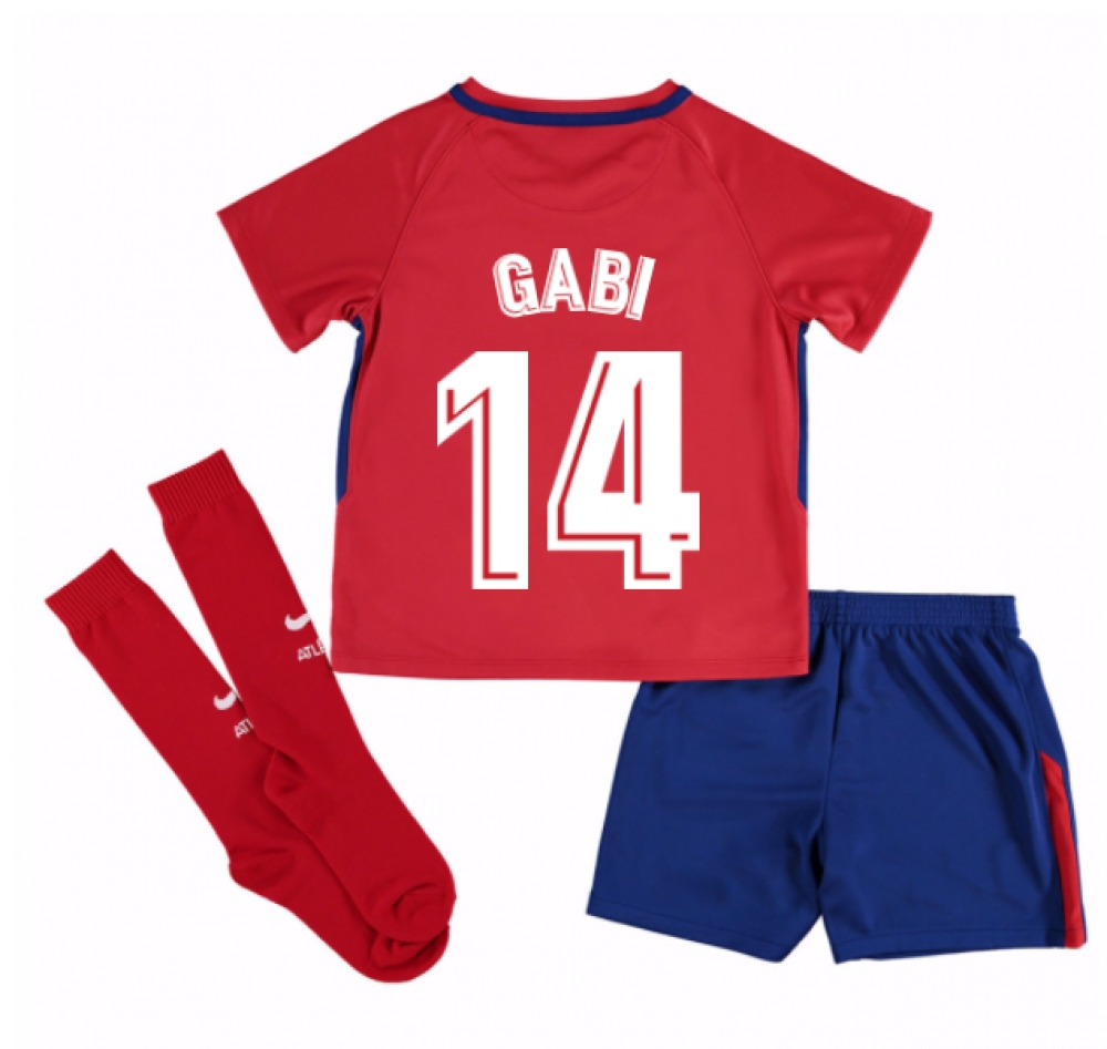 2017-2018 Atletico Madrid Home Mini Kit (Gabi 14)