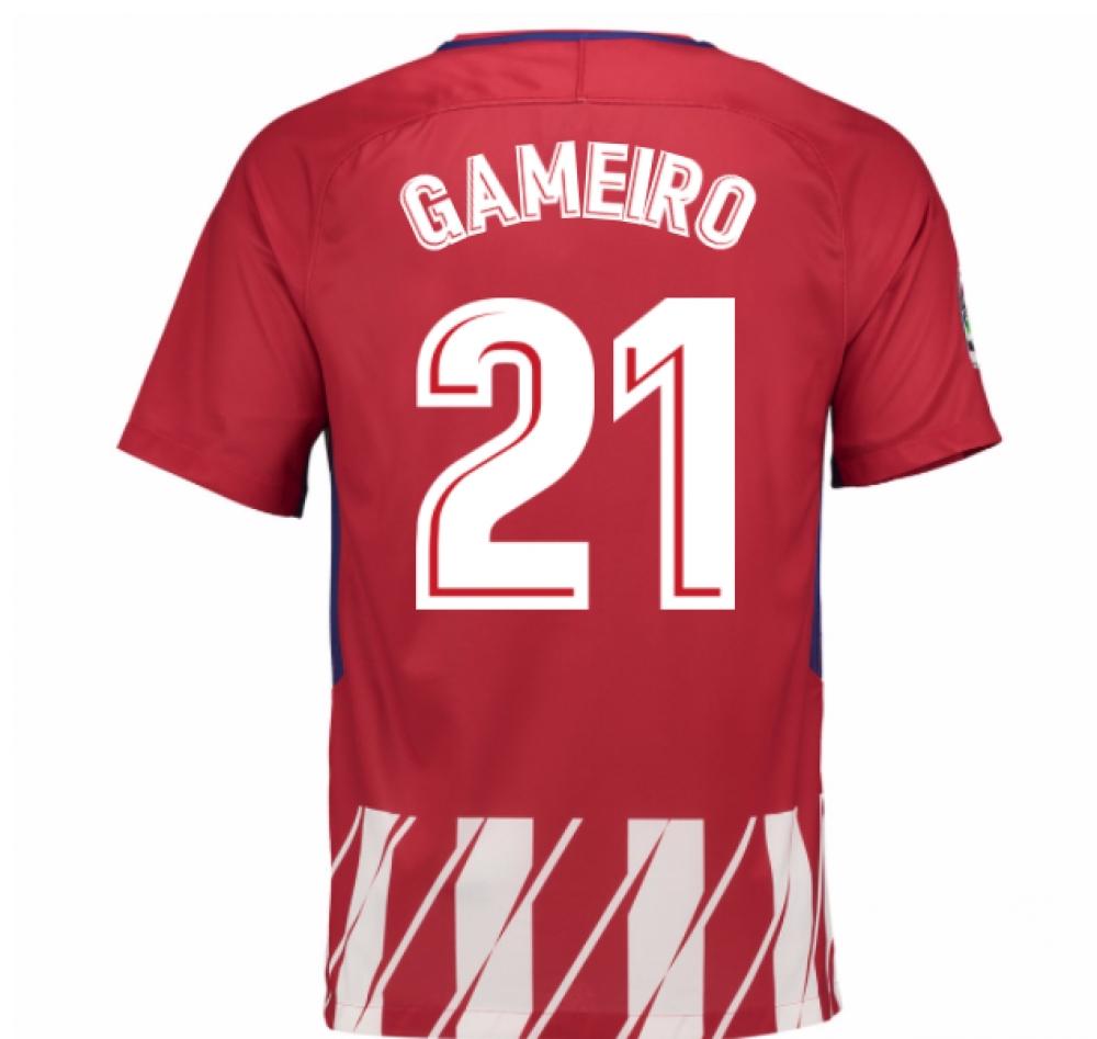 2017-2018 Atletico Madrid Home Shirt (Gameiro 21)