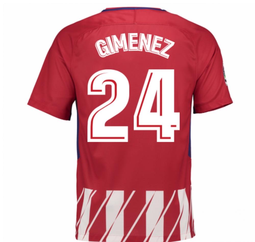 2017-2018 Atletico Madrid Home Shirt (Gimenez 24)