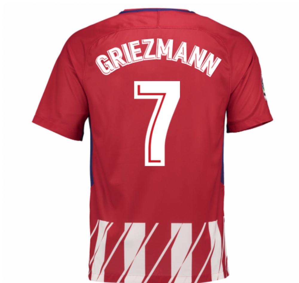 2017-2018 Atletico Madrid Home Shirt (Griezmann 7)