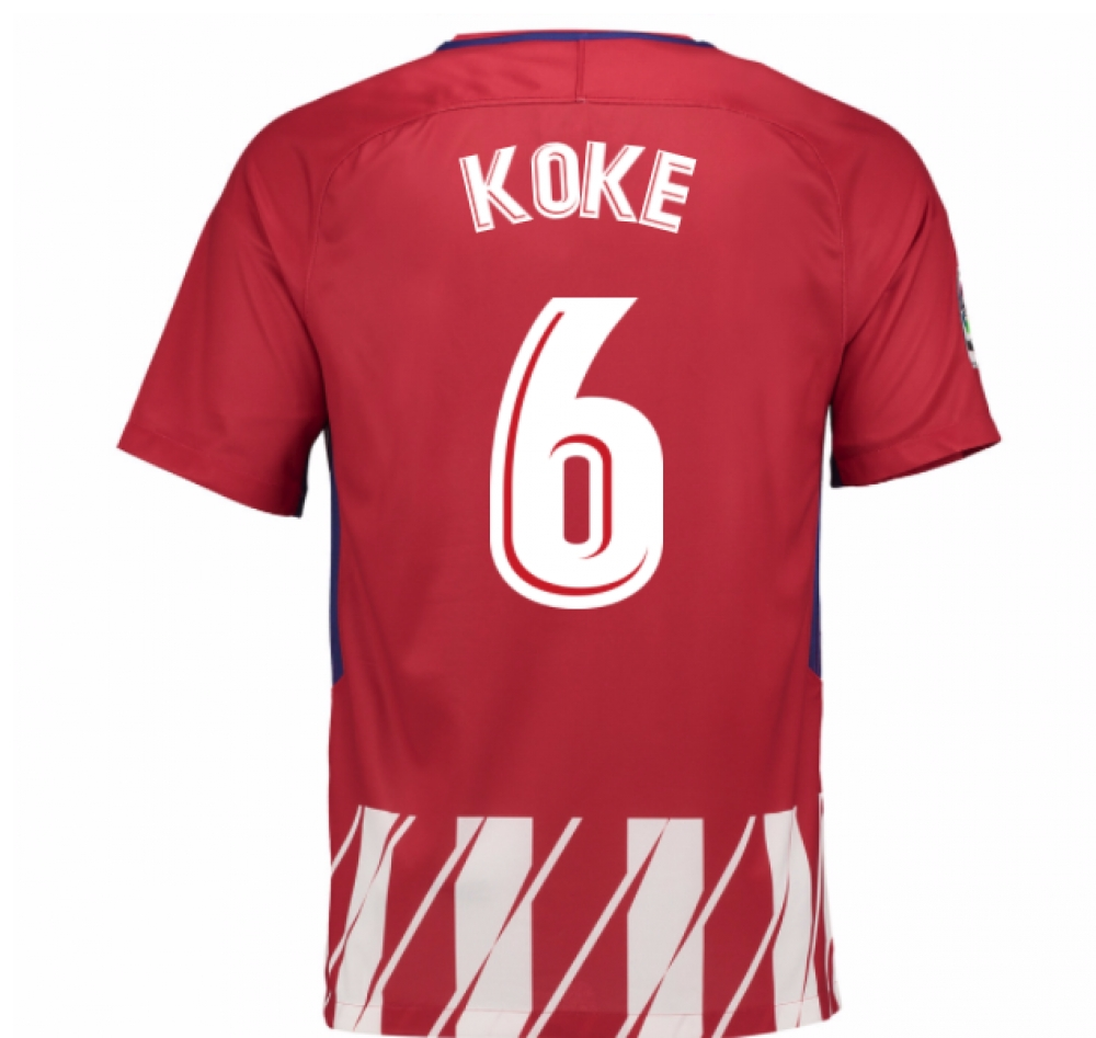 2017-2018 Atletico Madrid Home Shirt (Koke 6)