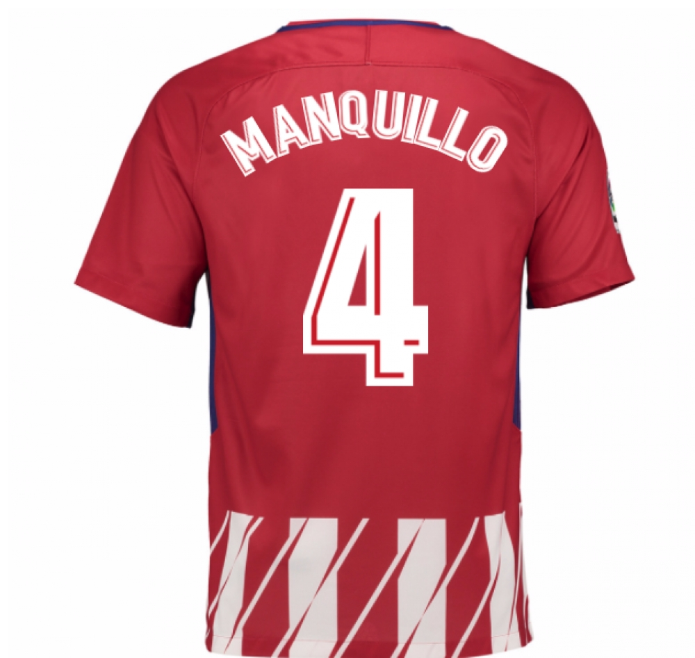 2017-2018 Atletico Madrid Home Shirt (Manquillo 4) - Kids