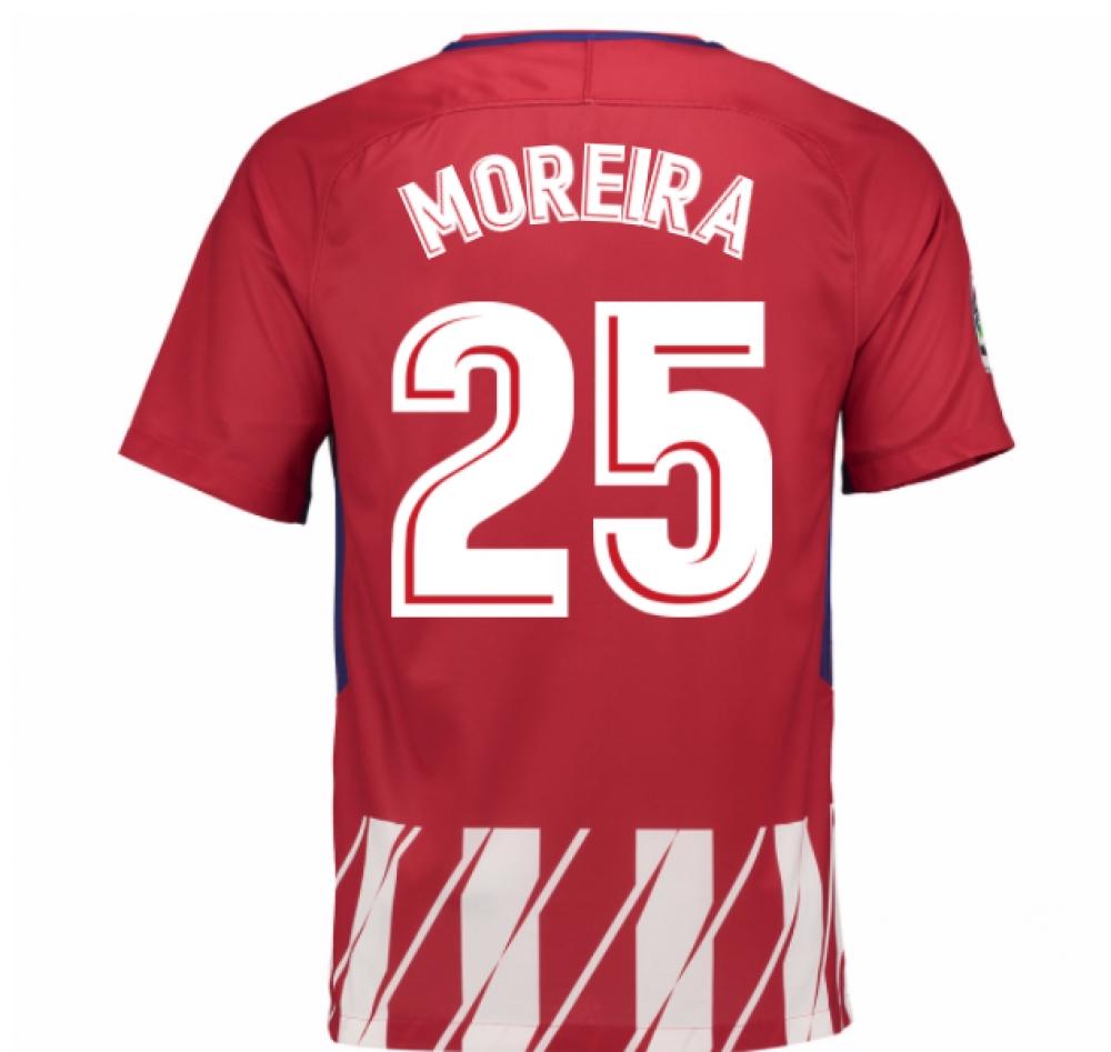 2017-2018 Atletico Madrid Home Shirt (Moreira 25) - Kids