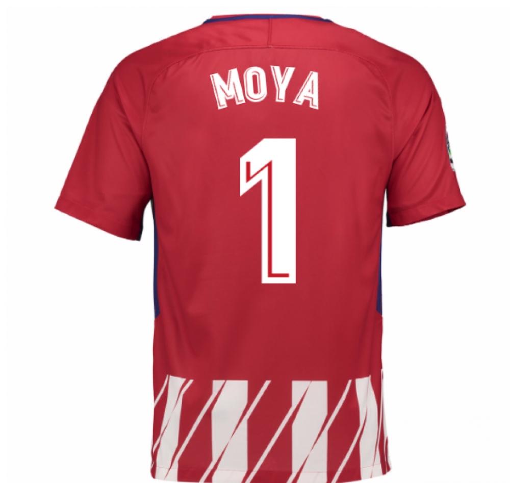 2017-2018 Atletico Madrid Home Shirt (Moya 1) - Kids