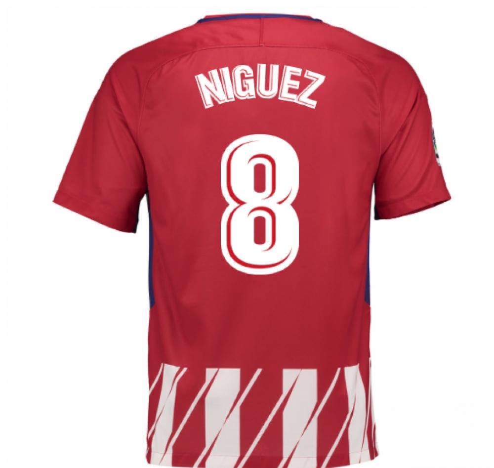 2017-2018 Atletico Madrid Home Shirt (Niguez 8)