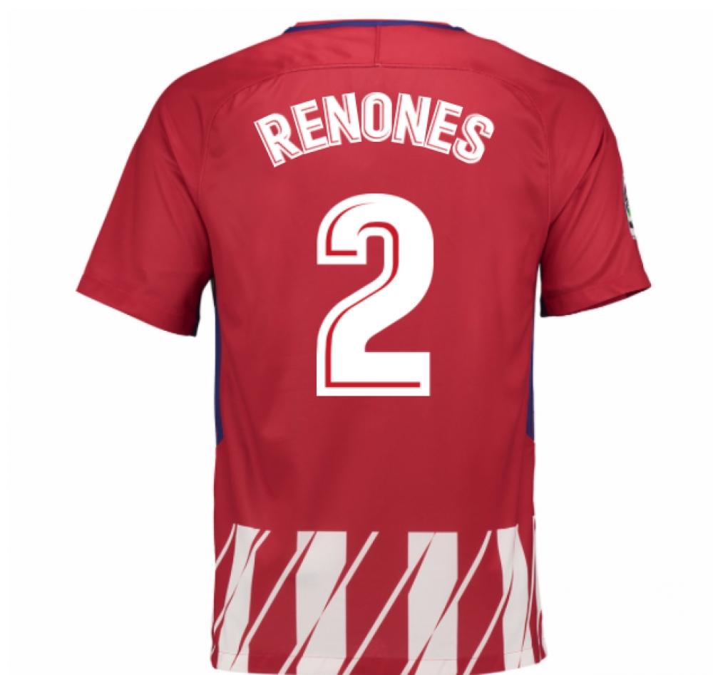 2017-2018 Atletico Madrid Home Shirt (Renones 2) - Kids