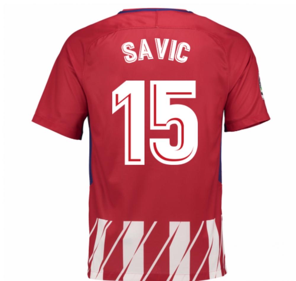 2017-2018 Atletico Madrid Home Shirt (Savic 15)