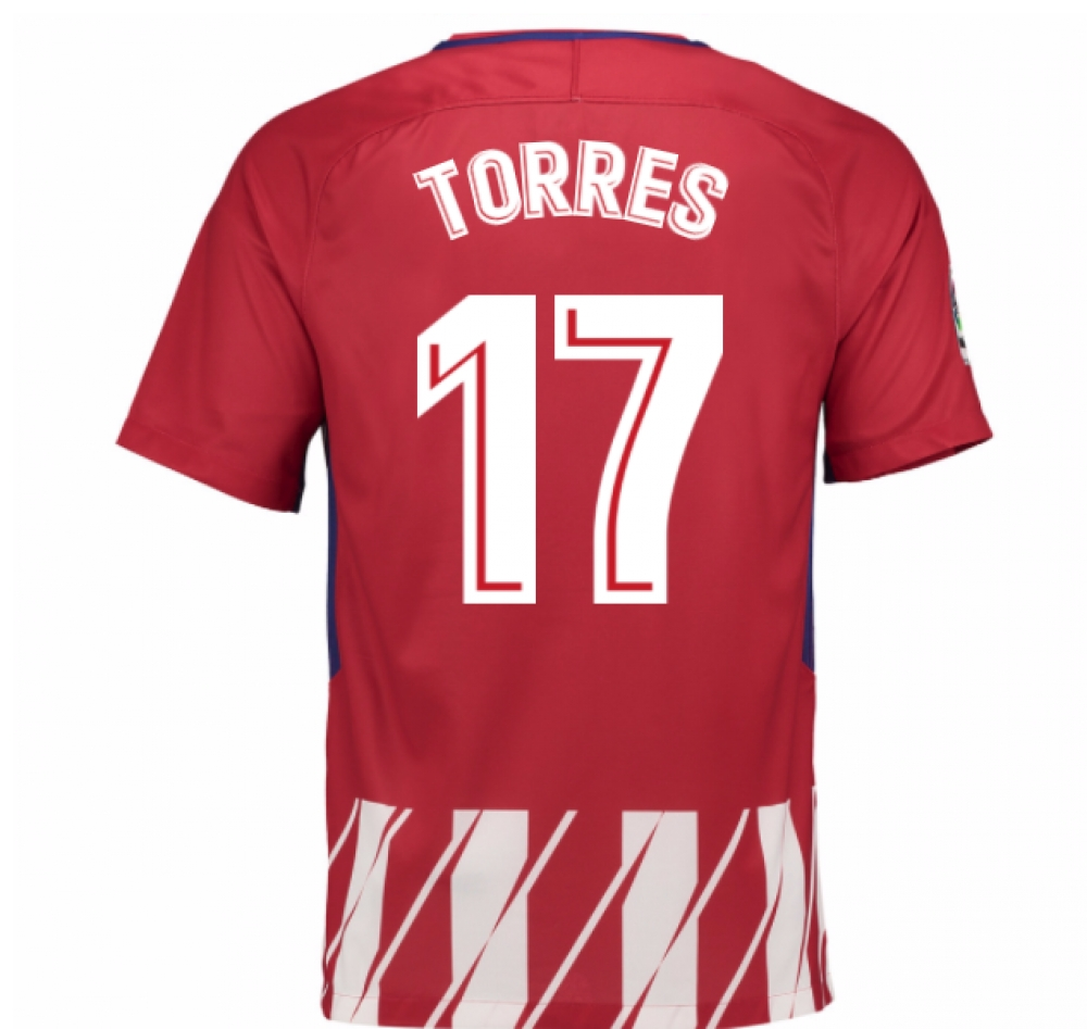 2017-2018 Atletico Madrid Home Shirt (Torres 17)