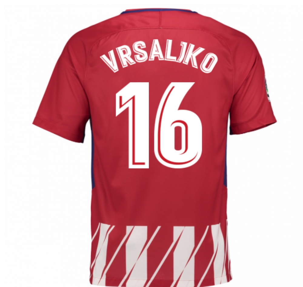 2017-2018 Atletico Madrid Home Shirt (Vrsaljko 16)