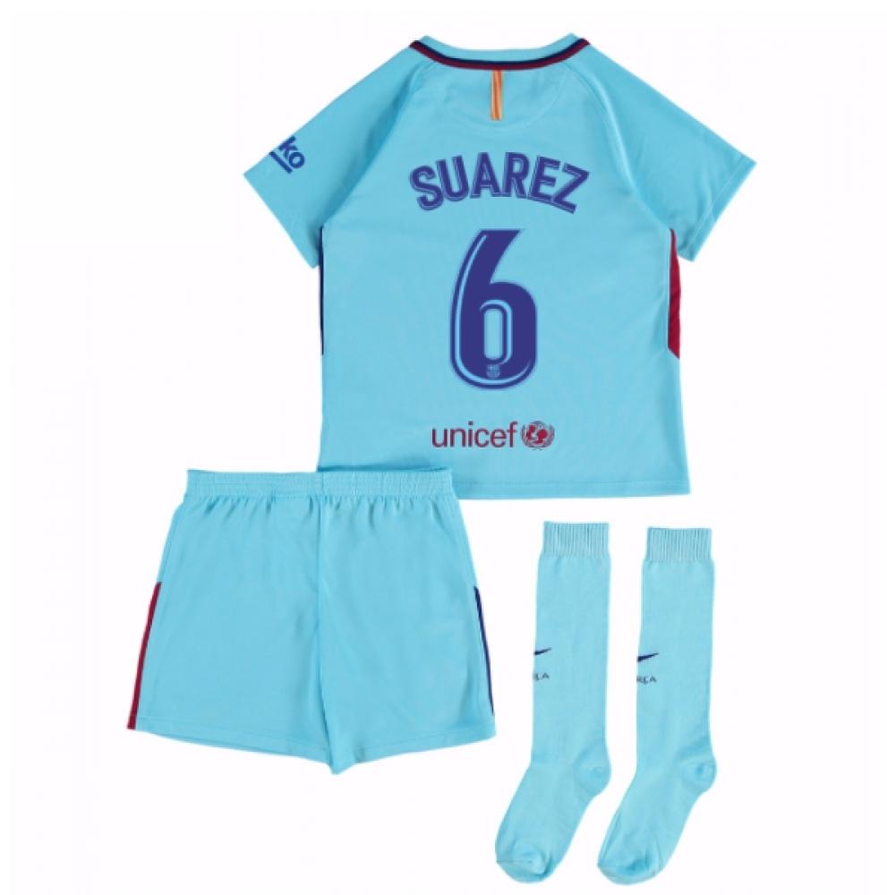 2017-2018 Barcelona Away Mini Kit (Suarez 6)