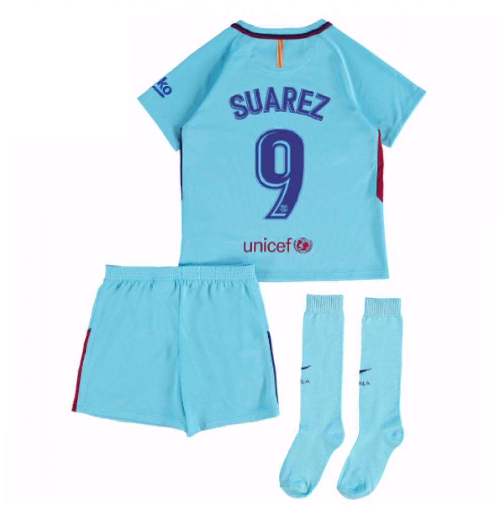 2017-2018 Barcelona Away Mini Kit (Suarez 9)