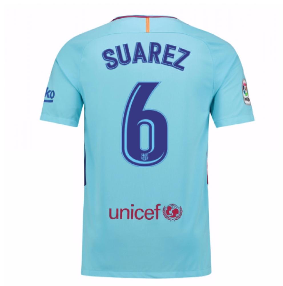 2017-2018 Barcelona Away Shirt (Suarez 6) - Kids
