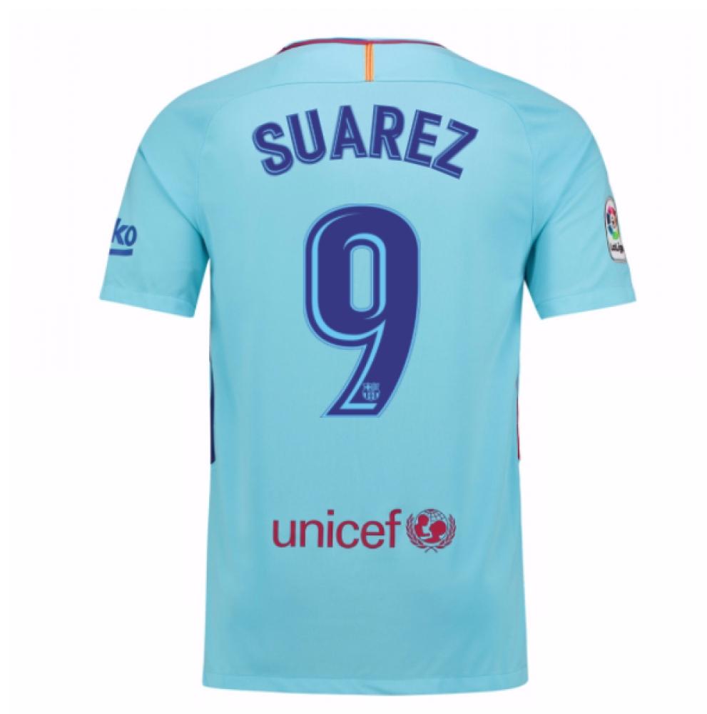 2017-2018 Barcelona Away Shirt (Suarez 9) - Kids
