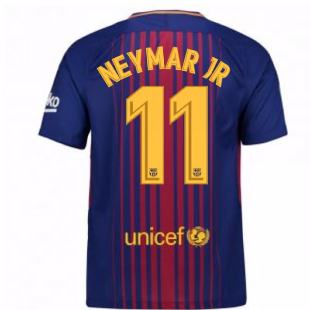 2017-2018 Barcelona Home Shirt (Neymar JR 11) - Kids